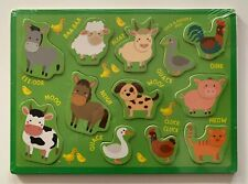Farm Animals 12 Piece Children's Wooden Jigsaw Puzzle