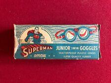 "1950's, SUPERMAN, ""OFFICIAL SWIM GOGGLES"" w/ Display Box  (Scarce)"