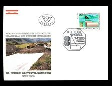 Austria 1986 geotextile Congresso FDC #C 3237