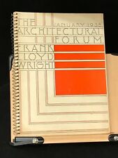 The Architectural Forum Jan 1938 Frank Lloyd Wright Complete: E W Zoller
