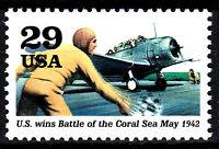 USA postfrisch MNH Flugzeug Kampfflugzeug Flugzeugträger Weltkrieg 2 Militär /42