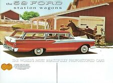 1959  FORD V-8/SIX  STATION WAGON SALES BROCHURE
