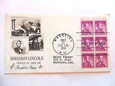"July 31st, 1958 Commemorating ""Lincoln"" 1st Day Issue"