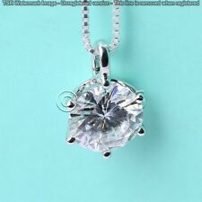 1.68 ct FANCY Off White Yellow Real Moissanite .925 Sterling Silver Pendant C05