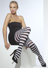 Adult Ladies Black and White Striped Tights