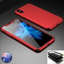 iPhone X 8 7 6 Plus Ultra-Thin Shockproof Hard Case Cover Tempered Glass F Apple