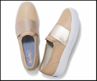 Keds Women's Natural Triple Bandeau Leather Shoes