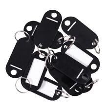 1X(Porte-CléS / éTiquette D'Identification en Plastique Noir, 10 PièCes - Argent