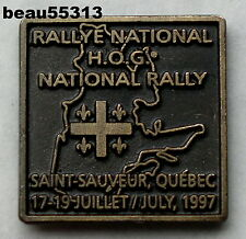 HARLEY OWNERS GROUP HOG 1997 NATIONAL CANADIAN SAINT SAUVEUR QUEBEC CANADA PIN