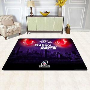 Baltimore Ravens Fans Area Rugs Carpet Floor Mat Home Decor Modern Flannel Rug