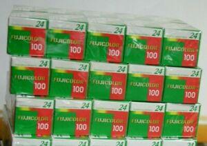 10x rullino Fuji Fujifilm Fujicolor 135/24 100 iso 10 pezzi