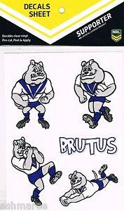 NRL Canterbury Bulldogs Mascot Brutus Car Tattoo Sticker / iTag / Decal