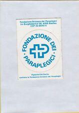 ADESIVO VINTAGE STICKER fondazione svizzera dei paraplegici .