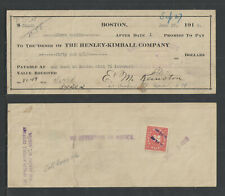 1918 THE HENLEY-KIMBALL COMPANY BOSTON MASS ANTIQUE PROMISORY NOTE $50 w REVENUE