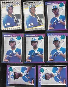 Ken Griffey Jr Rookie RC card lot 89 Fleer 1989 Donruss and Topps Gold - lot 1