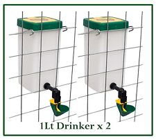*New - 1Lt Drinker with cup for Chickens-Poultry x 2