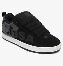 Scarpe Uomo Casual Skate DC Shoes Court Graffik SE Black Grey Schuhe Chaussures