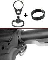 For 223/5.56 End Plate Rifle Sling Mount &QD Sling Swivel Adapter & Castle nut *