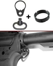 Tactical QD End Plate Sling Swivel Attachment Mount Adapter&.223/5.56 Castle nut