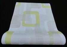 "13460-40-519) edle Design Vliestapete ""Novara"" weiss grau grün Glanzeffekt"
