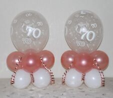 70th Birthday -Rose Gold - 2 -6 or 12 Pack -Table Balloon Decoration Display Kit