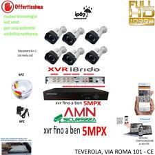 KIT VIDEOSORVEGLIANZA CLOUD DVR 8 CANALI 6 TELECAMERE 5MP AHD + HD2TB CCD SONY