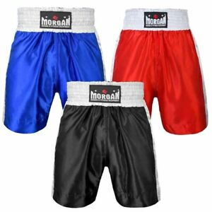 Boxing Shorts - Black Blue or Red - Morgan Sports **FREE DELIVERY**