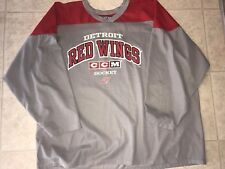 DETROIT RED WINGS ~ CCM Hockey Jersey Blank Back NHL Red Gray  EUC ~ 2XL