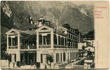 Primi '900 Chiavenna albergo Helvetia Elvezia e Specola esterno hotel FP B/N