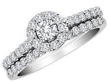 Certificado 1.00 quilates (Quilates H-I, I2-I3) & Banda Diamante Anillo De Oro 10K