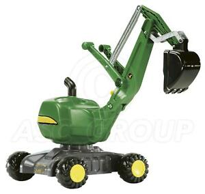 Rolly Toys - John Deere Digger Excavator on Wheels - Sit on 360 Rotation Age 3+
