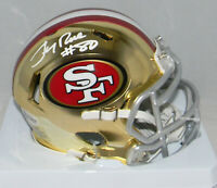 JERRY RICE AUTOGRAPHED SAN FRANCISCO 49ERS CHROME SPEED MINI HELMET BECKETT
