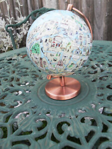 Miniture ITALIAN Worded Globe - 6 & 1/2 inches tall - 5 & 1/2 inches wide