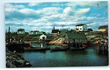 *Peggy's Cove Fishing Boats Seagulls Nova Scotia Canada Vintage Postcard B33