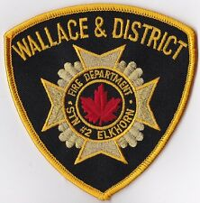 Wallace & District Fire Dept. Canada  Firefighter Patch NEW!!