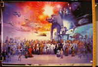 "Star Wars Poster - Galaxy Medley All The Characters ""NEW"" Classic"