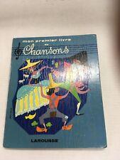 Mon Premier Livre de Chansons w/record in rear pocket.  Hardcover.  Helene Poire