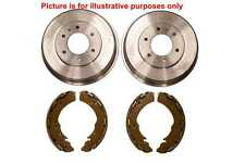 Rear Brake Shoe Set + Pair Of Rear Brake Drums For Mitsubishi L200 B40 2.5TD 06>