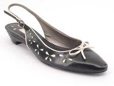 New BANDOLINO Leather Women Casual Slingback Low Heel Pump Sandal Shoe Sz 8 M
