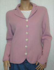 Ann Taylor Angora/Wool Blend Pink Mauve Cardigan Sweater Size L - Long Sleeve