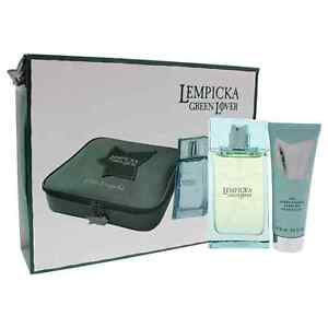 Green Lover by Lolita Lempicka for Men - 3 Pc Gift Set 3.4oz EDT Spray & More