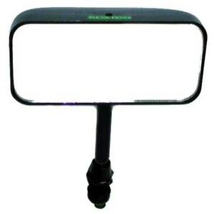 Racetech Single Seater Mirror Swivel Mounted Straight Stem Flat Glass Black