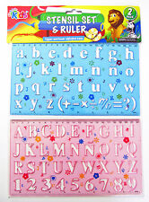 2 x Stencil Set Letters and Numbers Alphabeth Craft Number Lettering stensil SYD