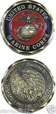 NEW U.S. Marine Corps Semper Fidelis Challenge Coin. 2243