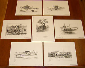 James Tabor Stratford(CT) Sketch Collection;Late 1940's,(7) Litho Ltd Ed -1/150