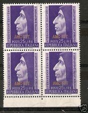 1952 TRIESTE A SAVONAROLA QUARTINA MNH ** RR6042-4