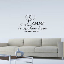 LOVE IS SPOKEN HERE VINYL WALL DECAL ART QUOTE WORDS HOME LETTERING STICKER