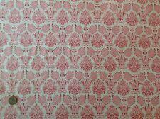 Tilda Fruit Garden Betsy Pink Fleur de Lis Cotton Quilting Fabric 50cm x 45cm