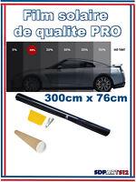 Qualite Professionnelle Film Teinté Pellicule Vitres Auto Noir 15% 76cm  X 3m