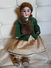 Antique bisque Headed doll...? andwergy... Allemagne 2... marron yeux en verre... L @ @